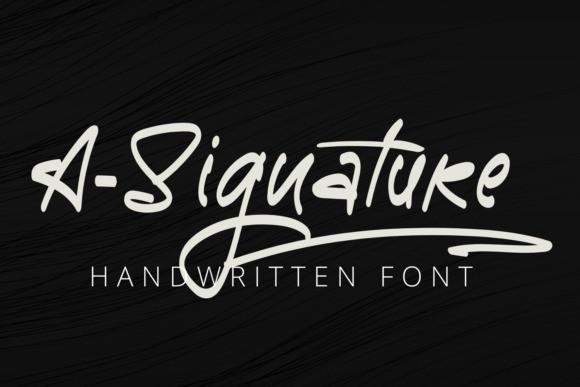 A-Signature Script Font