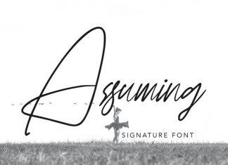 Assuming Script Font