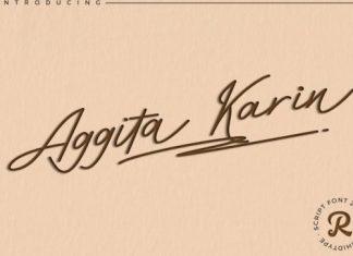 Aggita Karin Handwritten Font