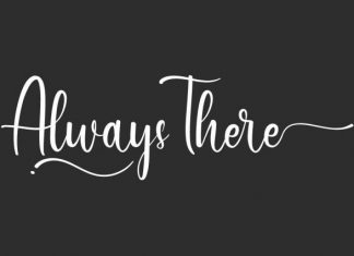Always There Script Font