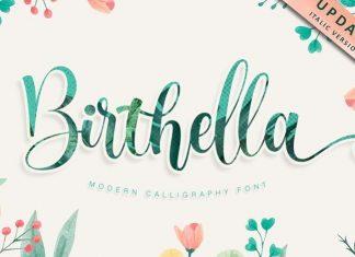 Birthella Calligraphy Font