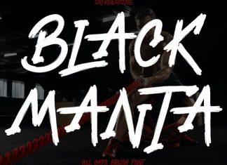Black Manta Brush Font