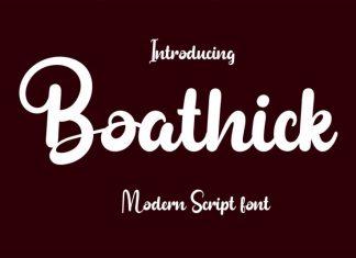 Boathick Script Font