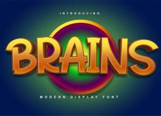 Brains Display Font