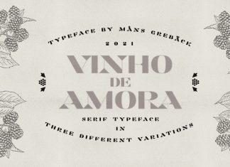 Vinho De Amora Serif Font