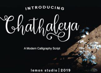 Chathaleya Calligraphy Font