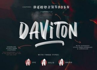 Daviton Brush Font