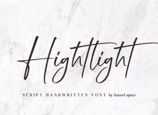Hightlight Handwritten Font