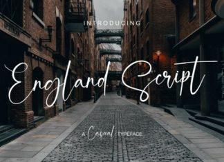 England Script Font