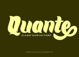 Quante Display Font