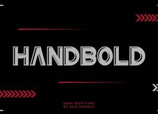 Handbold Display Font