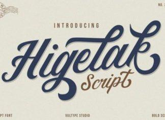 Higelak Script Font