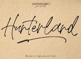 Hunterland Script Font