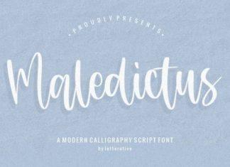 Maledictus Script Font