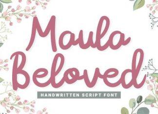 Maula Beloved Script Font
