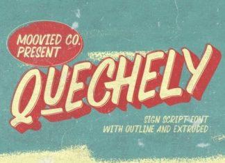Quechely Brush Font