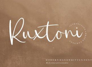 Ruxtoni Script Font