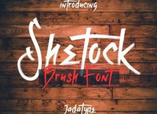 Shetock Brush Font