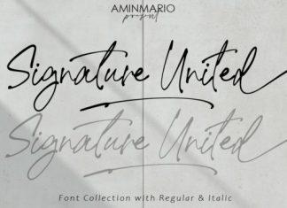 Signature United Script Font