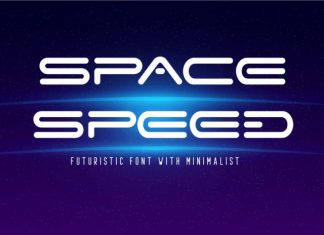 Space Speed Display Font