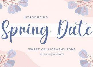 Spring Date Script Font