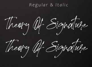 Theory Of Signature Script Font