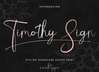 Timothy Sign Script Font
