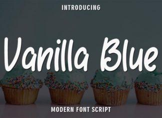 Vanilla Blue Handwritten Font