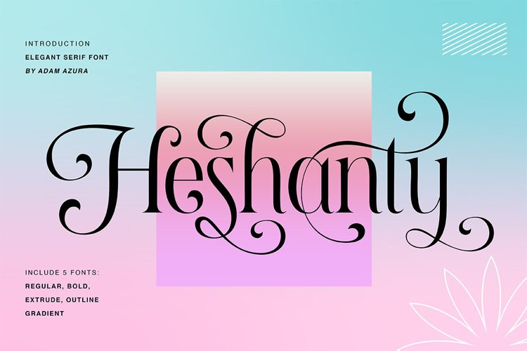 Heshanty Serif Font