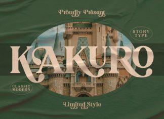 Kakuro Serif Font