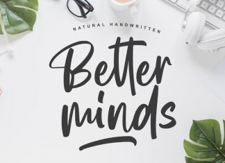 Better Minds Script Font