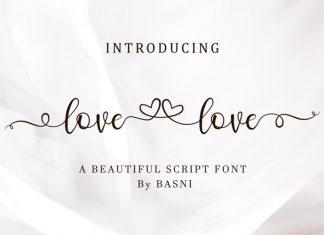 Lovelove Calligraphy Font