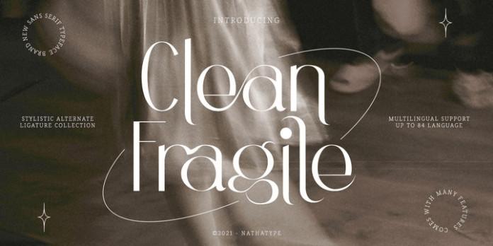 Clean Fragile Sans Serif Font