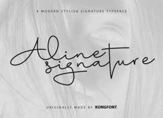 Aline Signature Script Font