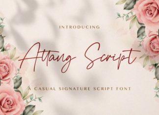 Attang Handwritten Font