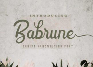 Babrune Script Font