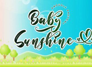 Baby Sunshine Brush Font