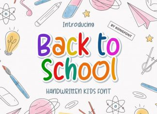 Back To School Display Font