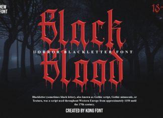 Black Blood Blackletter Font