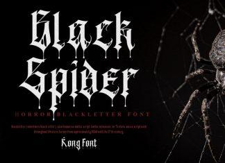 Black Spider Blackletter Font