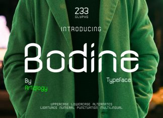 Bodine Display Font