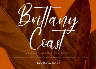 Brittany Coast Script Font
