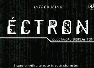 ECTRON Display Font