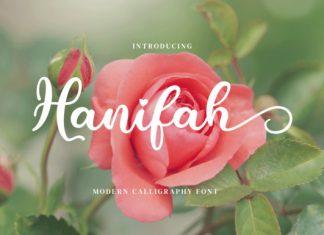 Hanifah Script Font