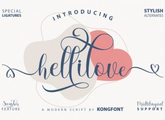 Hellilove Calligraphy Font