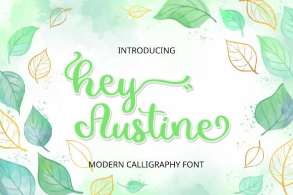 Hey Austine Script Font