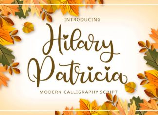Hilary Patricia Calligraphy Font