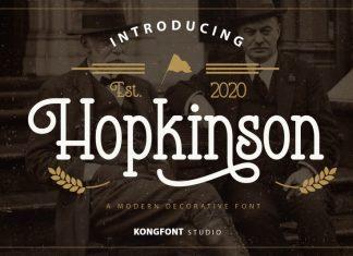 Hopkinson Display Font