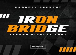 Iron Bridge Display Font
