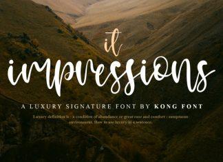 It Impressions Script Font